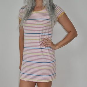 H&M Divided 80s Striped Extra Long Shirt